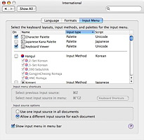System Preferences : International : Language